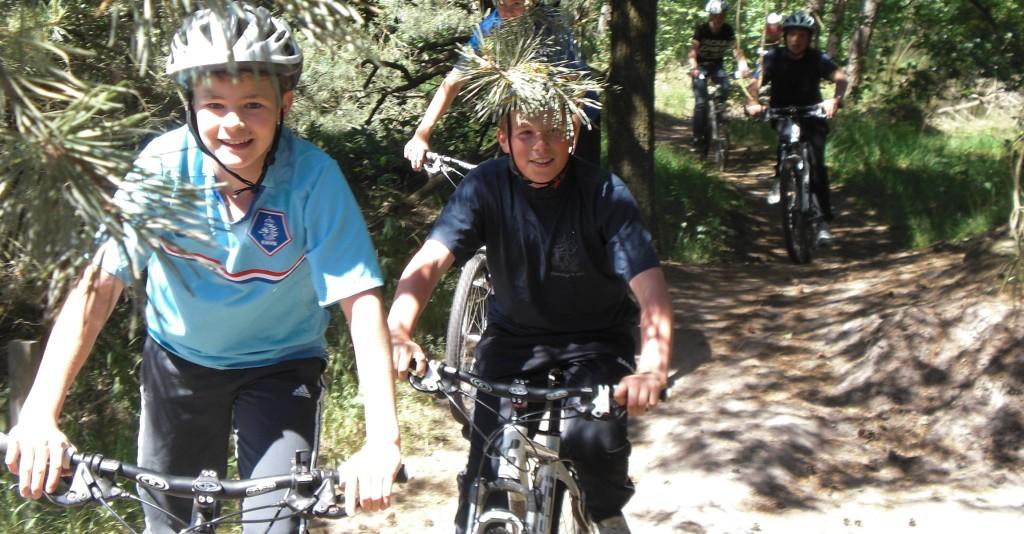 mountainbike op noord