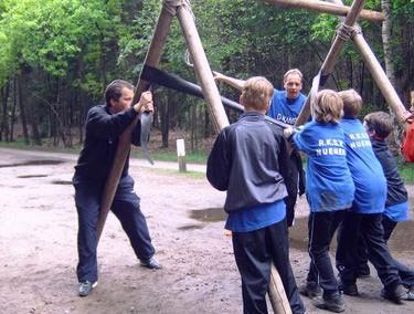 Katapult bouwen – Kinderfeest